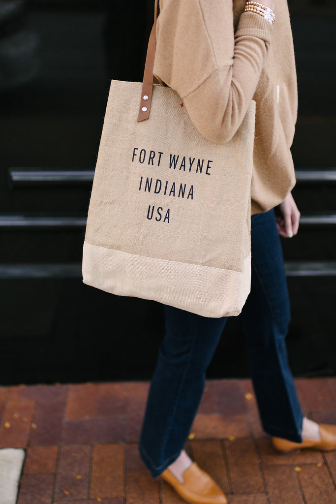 Apolis Fort Wayne Indiana Wine Tote