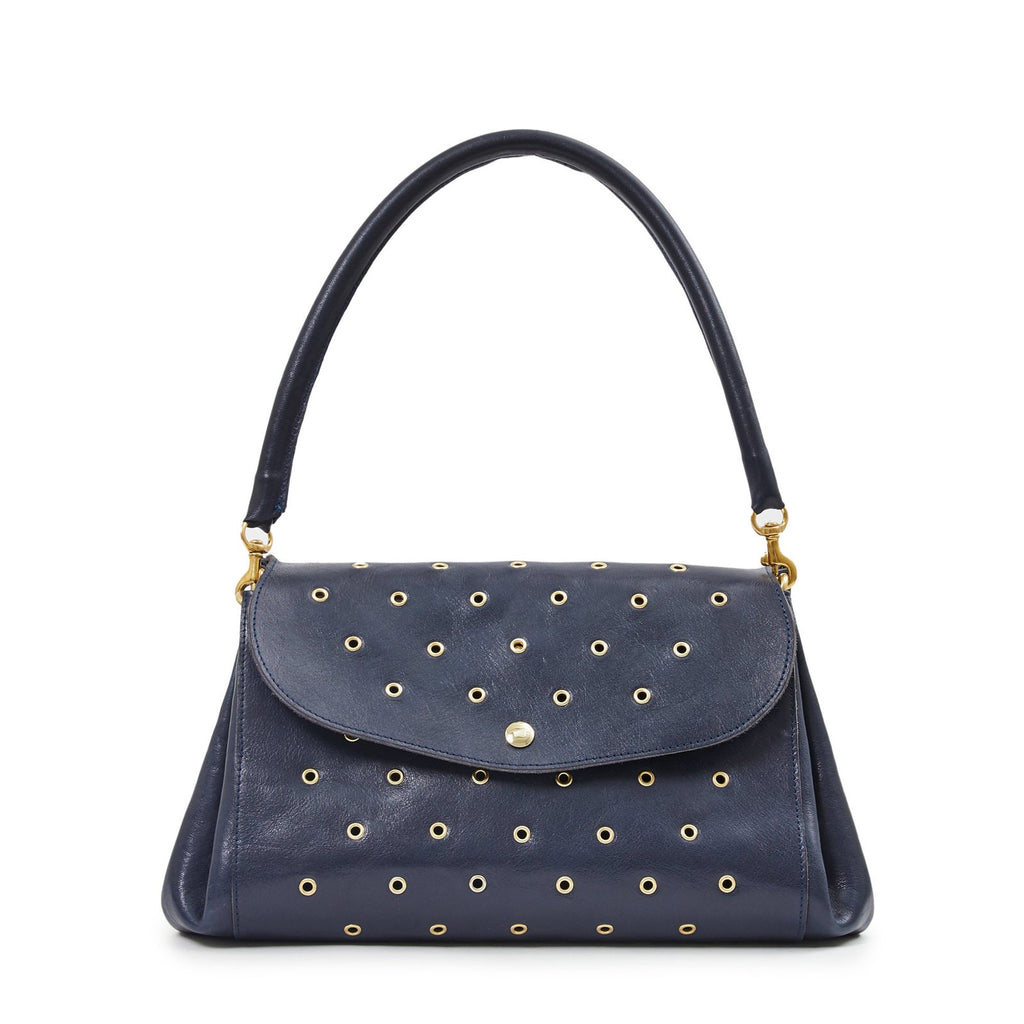 Clare V Arabelle Bag, Rustic Navy with Grommets