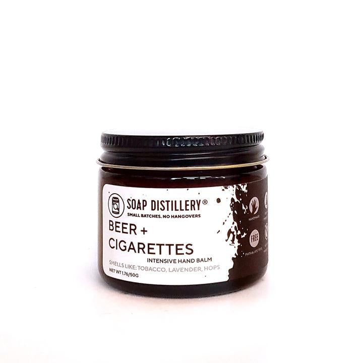 Soap Distillery Intensive Hand Balm - Beer + Cigarettes