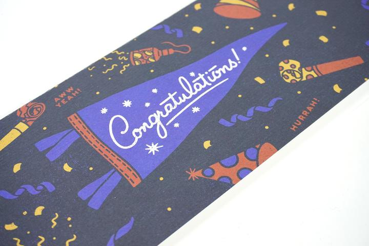 Oxford Pennant, Card + Mini Pennant - Congratulations