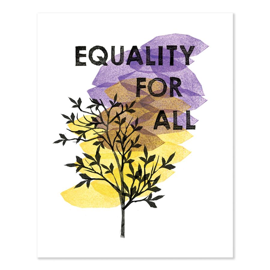 Heartell Press Art Print - Equality for All