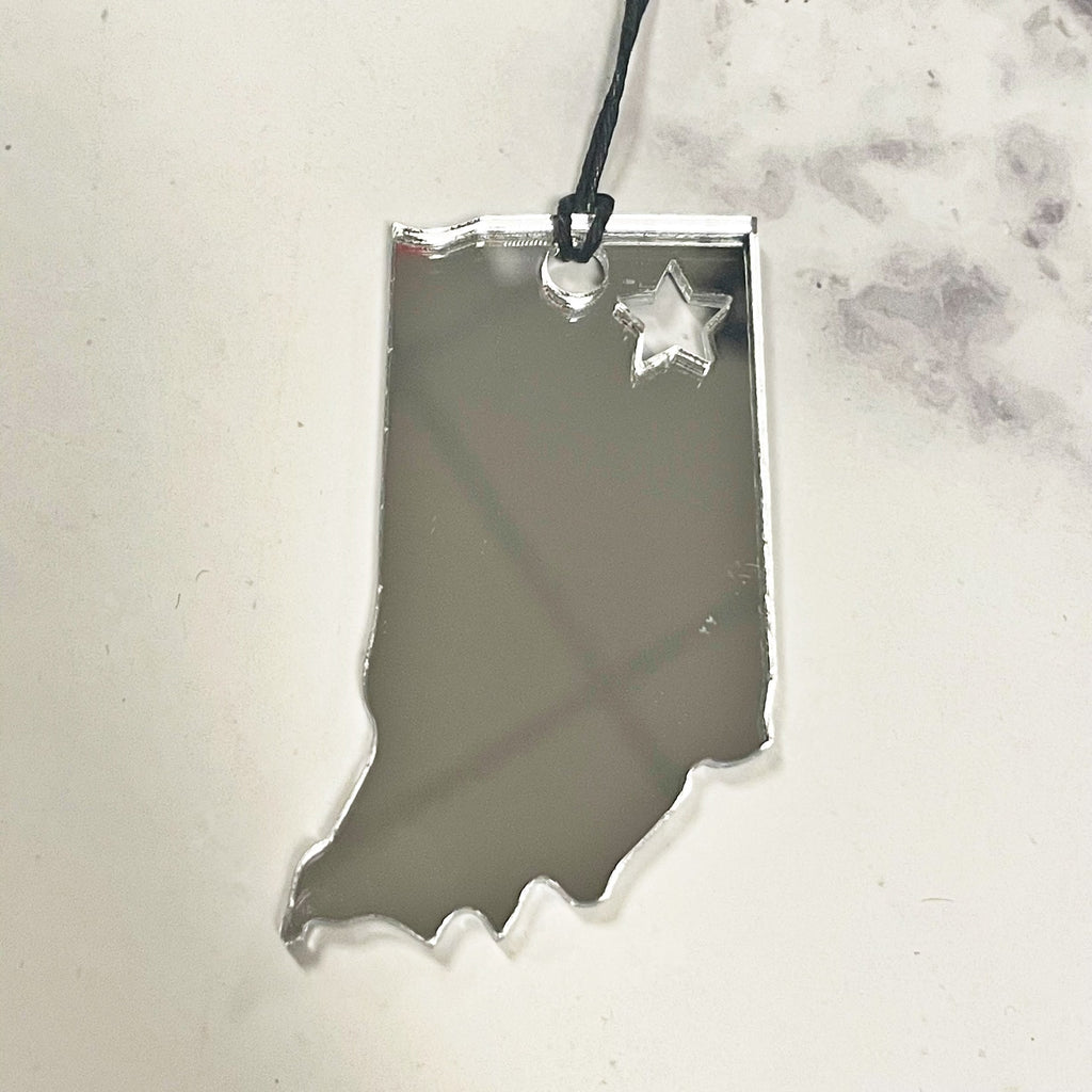 The Hedge State of Indiana Ornament, multiple options