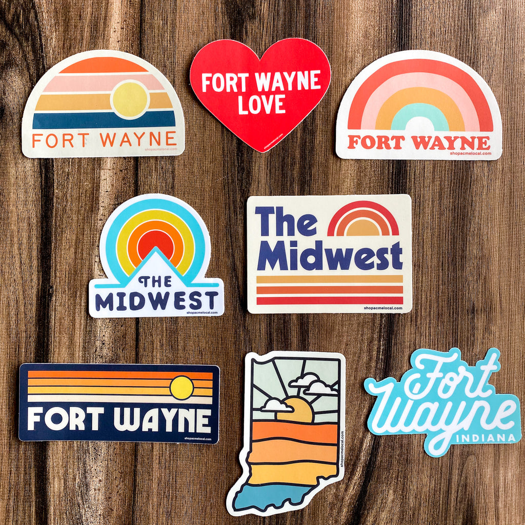 Acme Local Stickers, multiple options