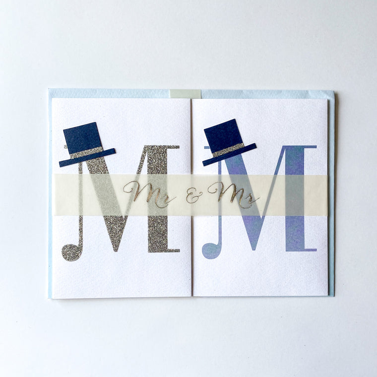 Meri Meri Mr. & Mr. Banner Card