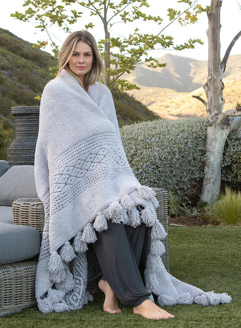 Barefoot Dreams Cozychic Luxe Casa Throw Blanket