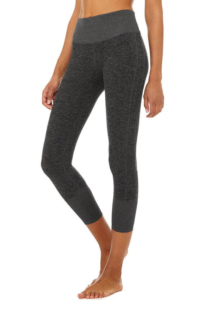 Alo High Waist 7/8 Lounge Legging, Dark Grey