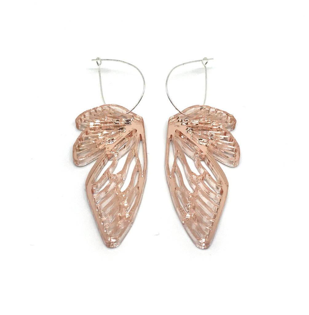 The Hedge Cut Wing Acrylic Earrings, multiple options