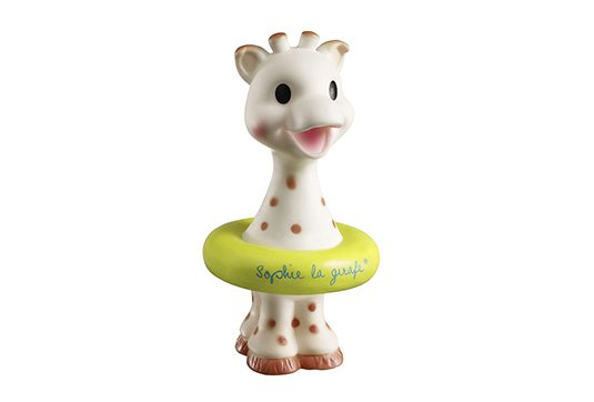 Sophie La Girafe Bath Toy, chartreuse ring