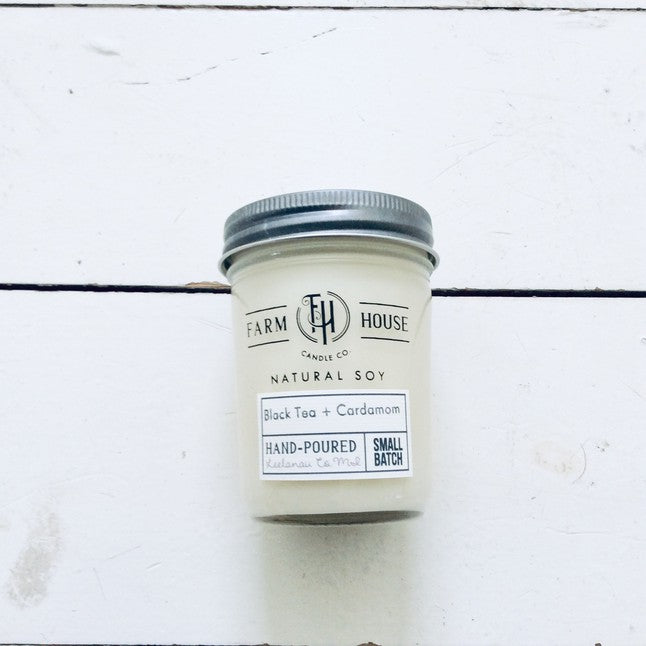 Farm House Candle Company, Black Tea + Cardamom