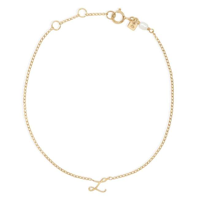 By Charlotte Love Initial Bracelet, multiple options