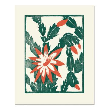 Heartell Press Art Print - Christmas Cactus