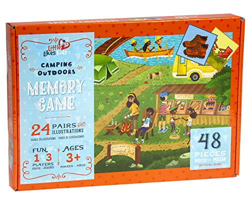 Little Likes Kids Memory Game, Camping Outdoors