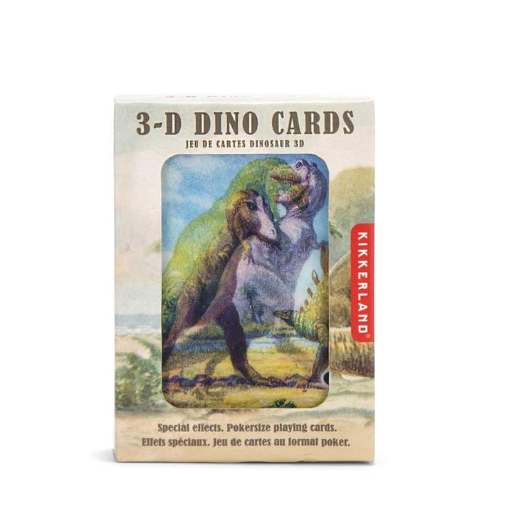 Kikkerland 3D Dino Playing Cards
