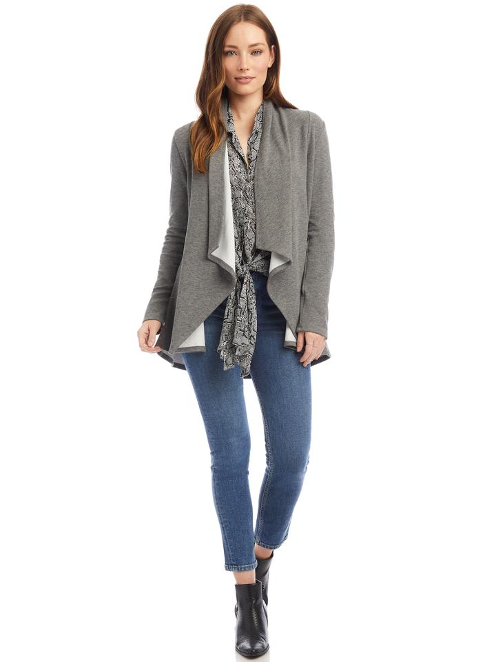 Fifteen Twenty Drape Front Sweater, Grey