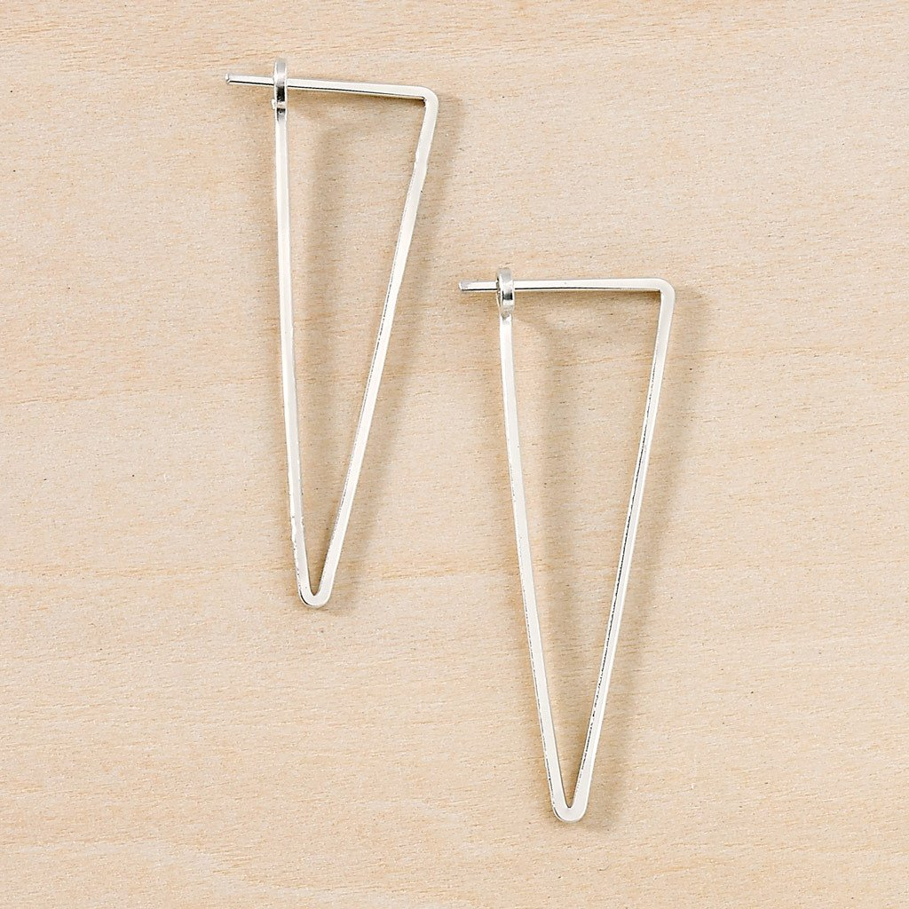 Freshie & Zero Minimal Apex Hoop Earrings, sterling silver