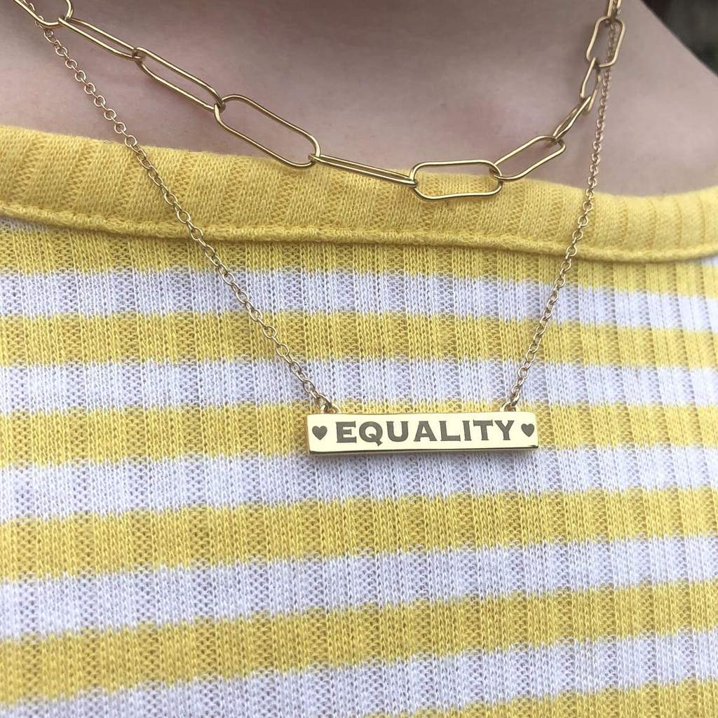 Kris Nations Necklace - Equality Bar, multiple options