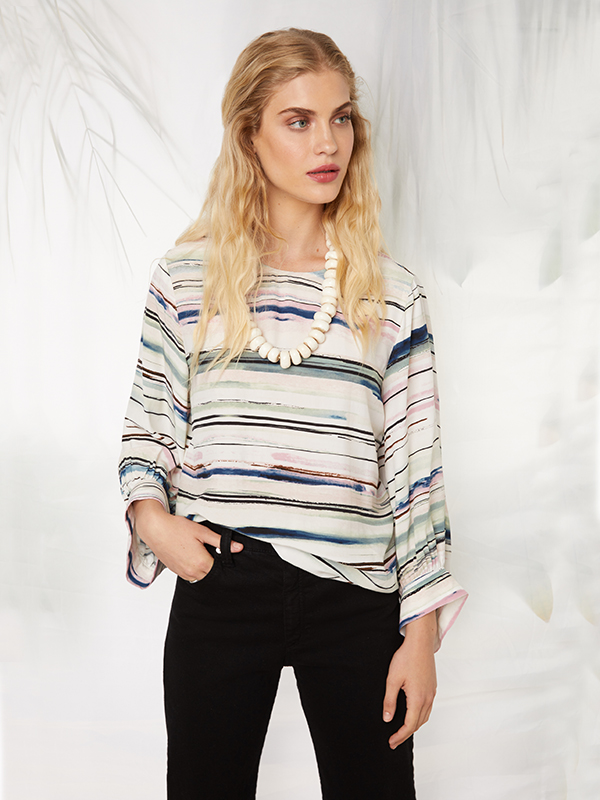 Fifteen Twenty Blouson Sleeve Top, Multicolor