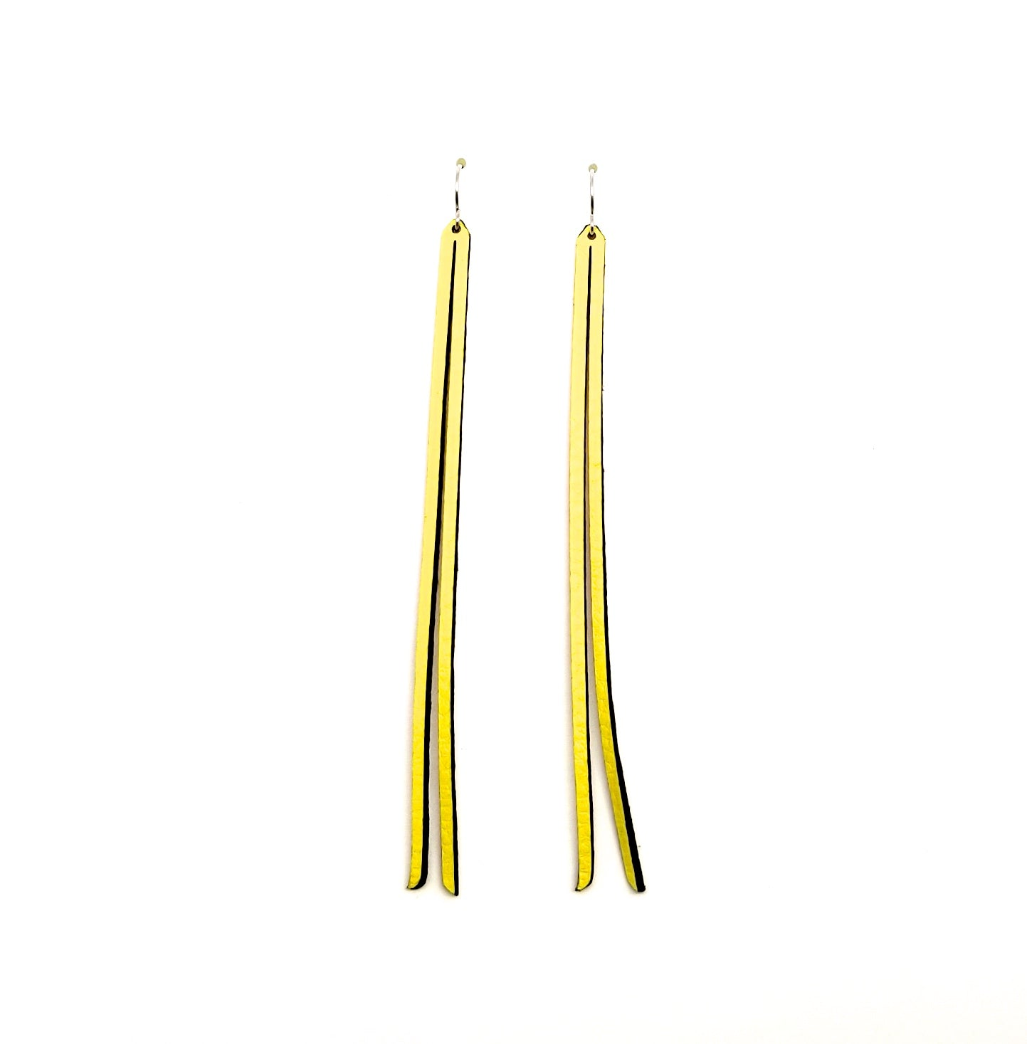 The Hedge Long Leather Earrings, multiple options