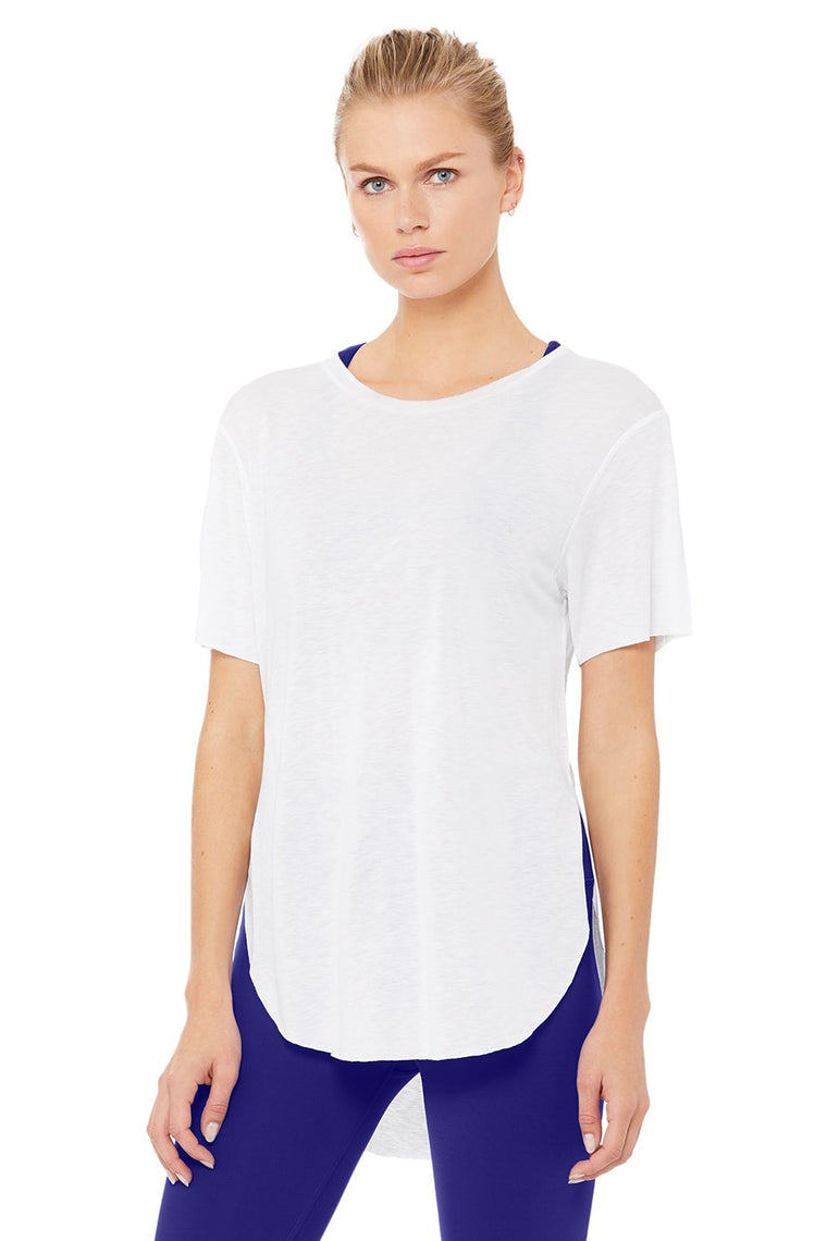 Alo Lithe Tee, White