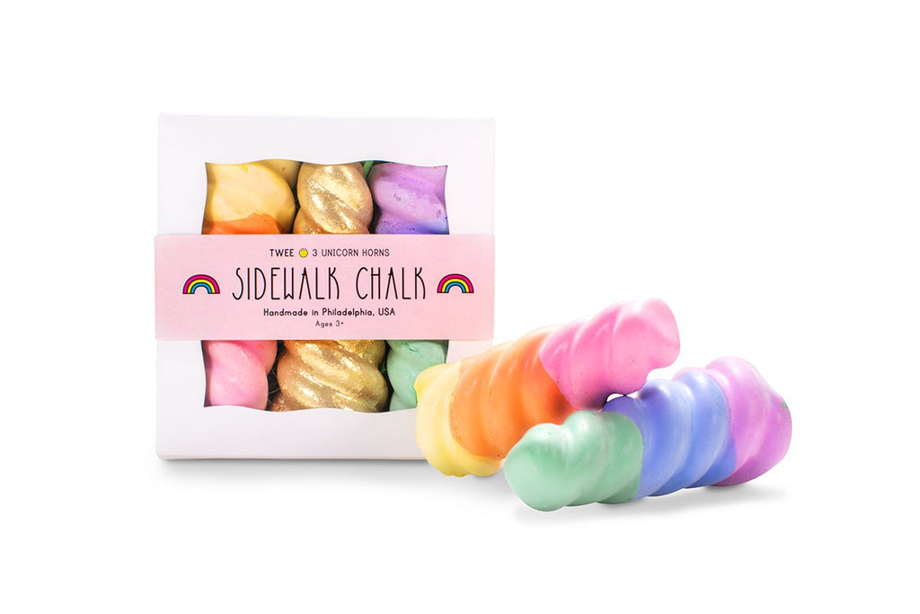 Twee Rainbow Unicorn Horn Sidewalk Chalk Set