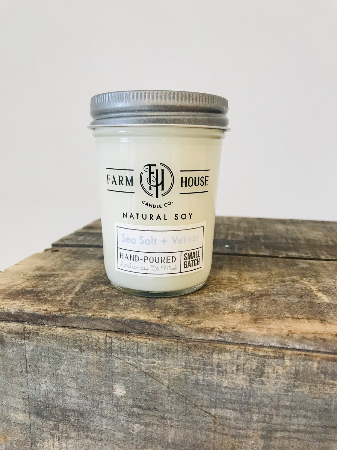 Farm House Candle Company Sea Salt & Vetiver