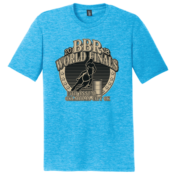 Turquoise Frost • 2018 World Finals Perfect Tri Crew Tee w/2 Color Logo