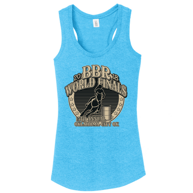 Turquoise Frost • 2018 World Finals Ladies Perfect Tri Racerback Tank w/2 Color Logo