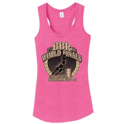 Fuchsia Frost • 2018 World Finals Ladies Perfect Tri Racerback Tank w/2 Color Logo
