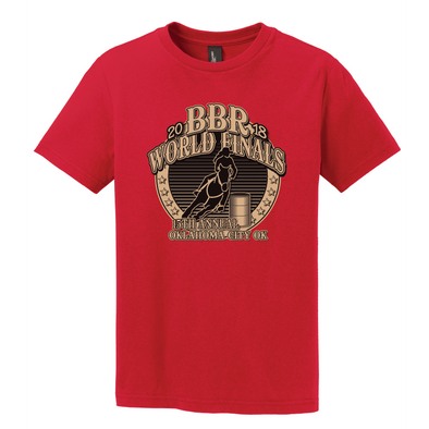 New Red • 2018 World Finals Youth T-Shirt w/2 Color Logo