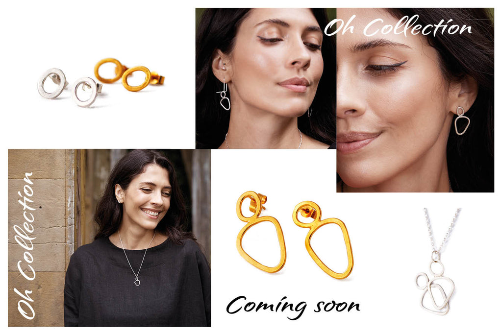 Oh collection of sterling silver and gold vermeil earrings and pendants