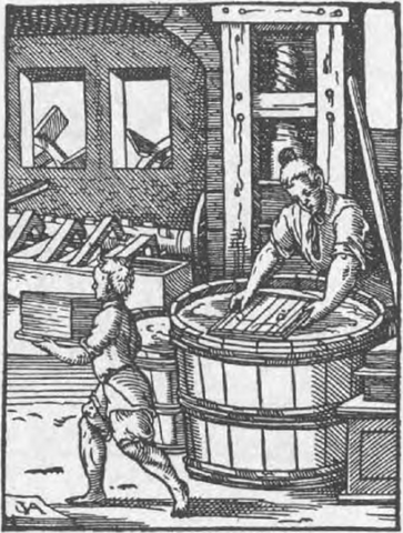paper making in sixteenth century Germany