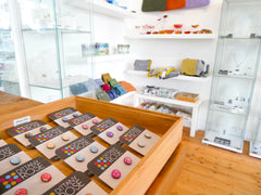Dittany Rose stud earrings at VK Gallery in St Ives