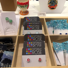 Dittany Rose stud earrings in Cambridge Contemporary Crafts