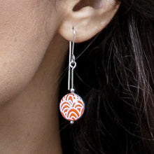 Load image into Gallery viewer, Drop earrings - Spirit - with Wave pattern