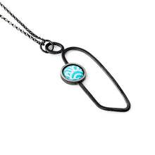 Pendant - Soma - Light Blue with Wave pattern