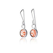 Load image into Gallery viewer, Drop earrings - Flux - with Wave pattern