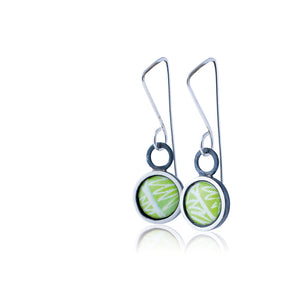 Drop earrings - Flux - with Anemone pattern