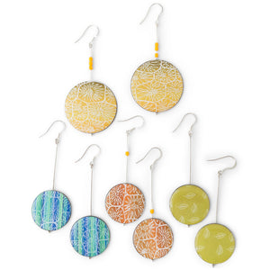 One off drop earrings