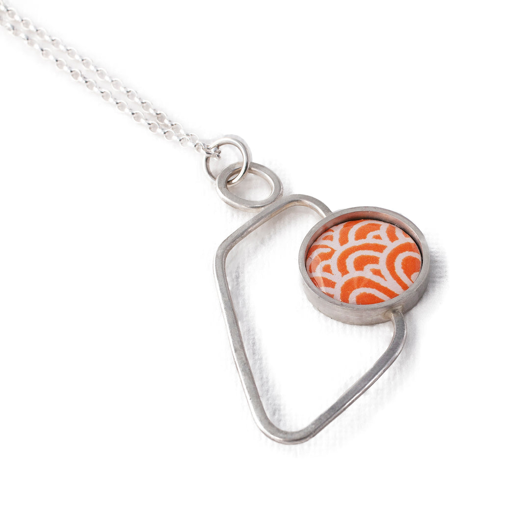 Pendant - Soma - Orange with Wave pattern