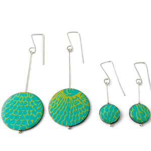 Drop earrings - with Selkie pattern