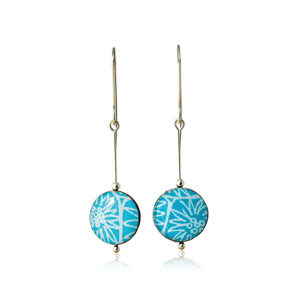 Drop earrings - Spirit - with Anemone pattern