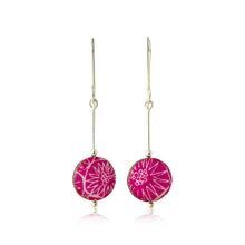 Load image into Gallery viewer, Drop earrings - Spirit - with Anemone pattern