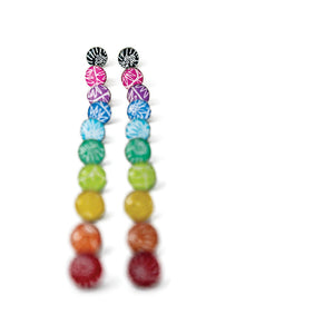 Small stud earrings - Spirit - with Anemone pattern