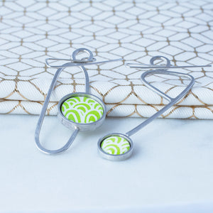 Statement earrings - Soma - with Wave pattern
