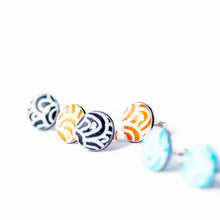 Load image into Gallery viewer, Small stud earrings - Spirit - with Wave pattern