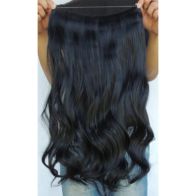 Secret Halo Hair Extensions Flip in Curly Wavy Hair Extension Synthetic Women Hairpieces 20