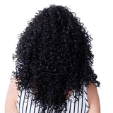 Medium Long Afro Kinky Curly Wig Synthetic Wig for Black Women