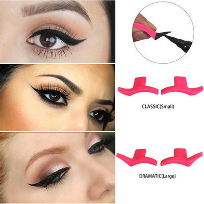 Cat Eyeliner Template Stencil Models Professional Makeup New Wing Style Kitten Large Size Cat Eye Wing Eyeliner Stamps