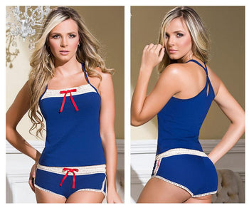7091 Two Piece Top and Shorts Set
