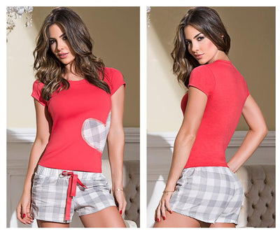 7092 Two Piece Top and Shorts Set